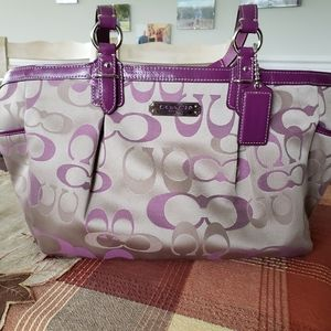 Purple Coach bag